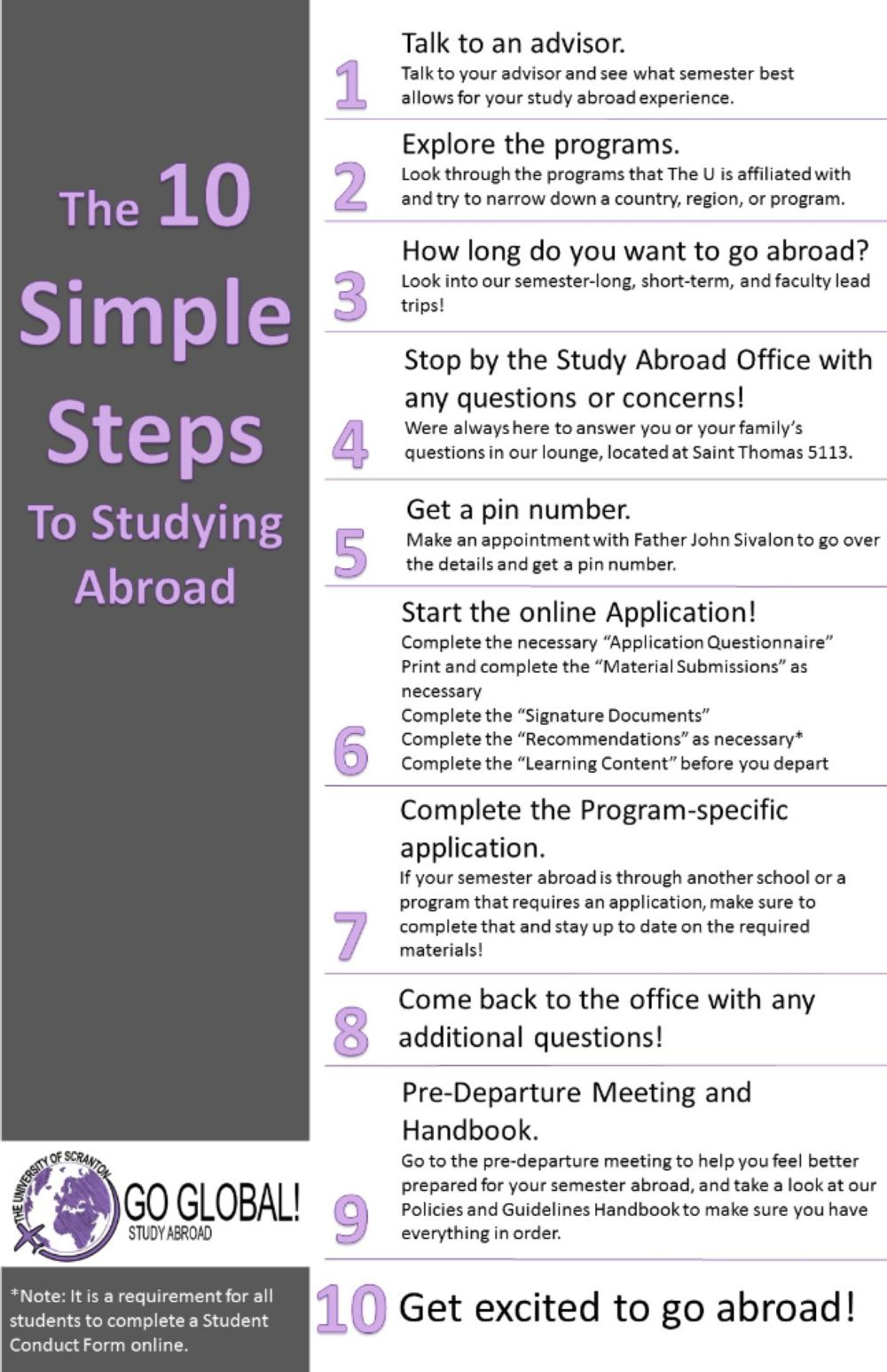 Ten Steps to Studying Abroad